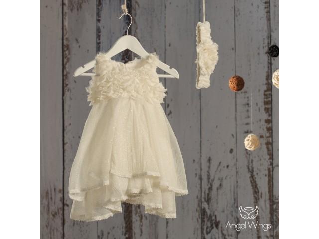 e40b46ab543d Angel Wings βαπτιστικά ρούχα κορίτσι φορέματα μπολερό | Βάπτιση ...